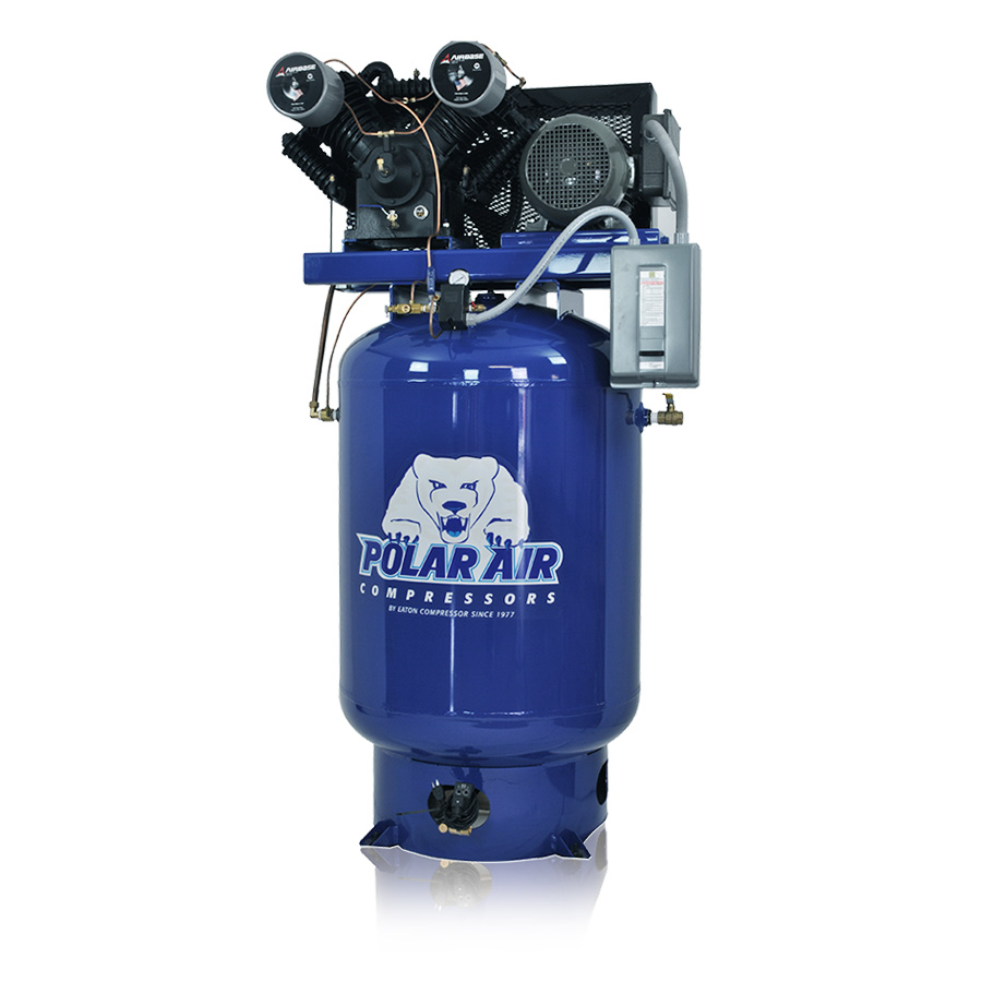 10HP Piston Air Compressor with 120 Gallon Tank