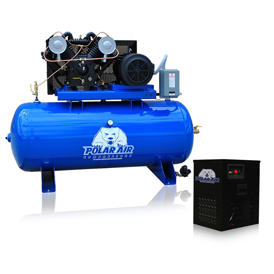 10 Hp Air Compressor With Dryer Package V4 Single Phase