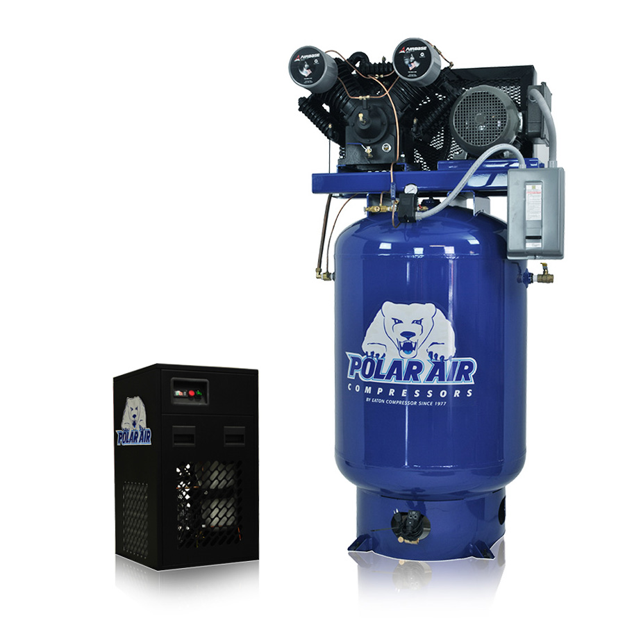 10 Hp Air Compressor With 58 Cfm Dryer Package 3 Phase