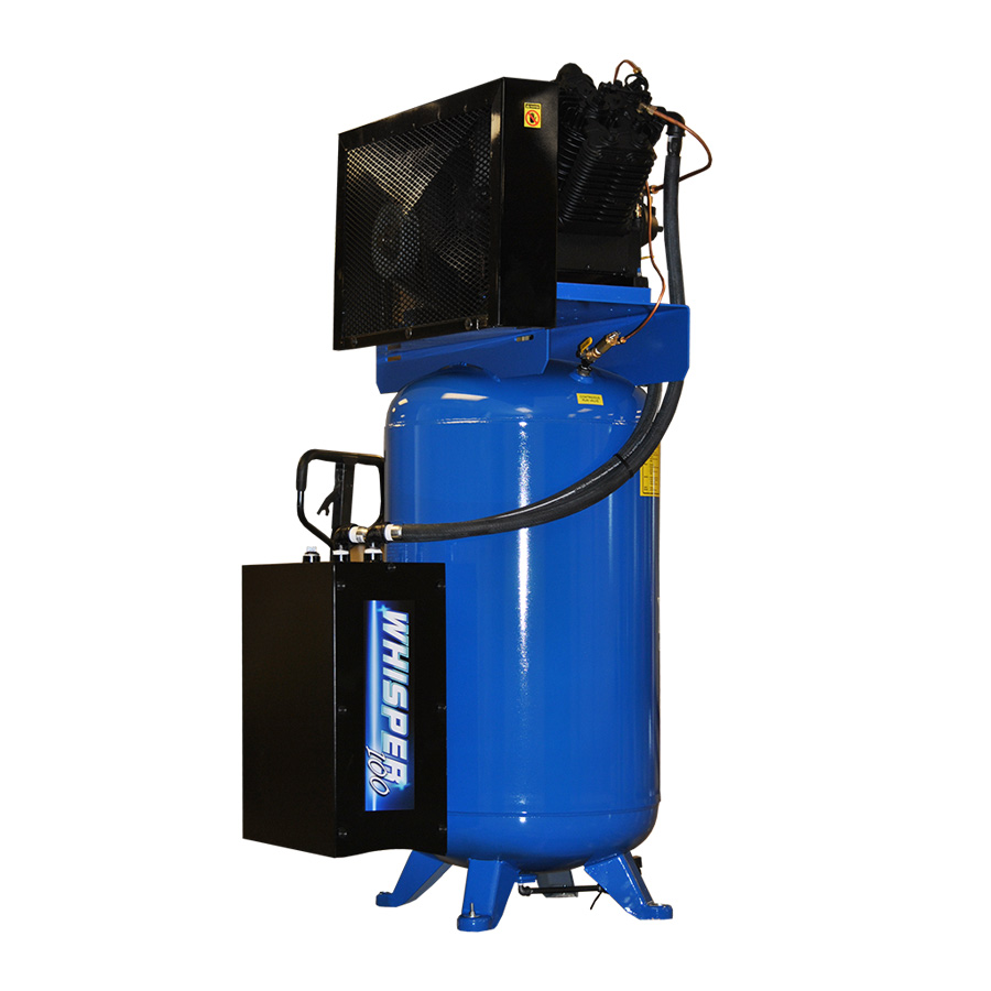 10 Hp Quiet Air Compressor With 58 Cfm Dryer Single Phase
