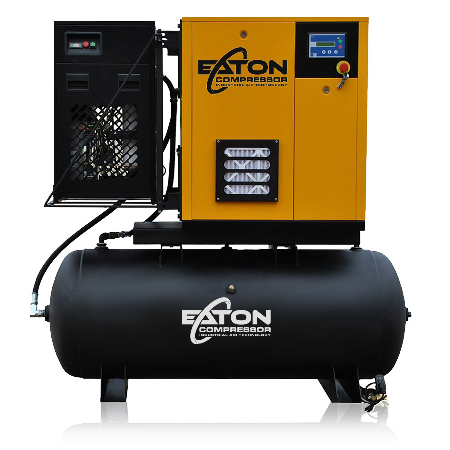15 HP Rotary Screw Air Compressor with Dryer Package