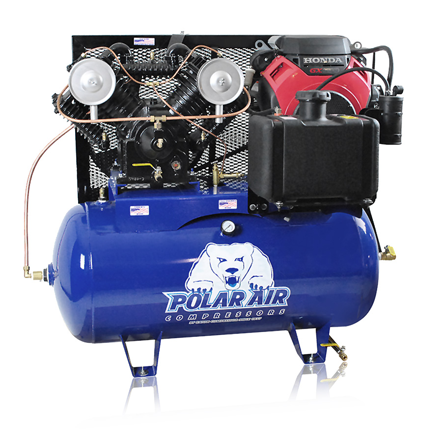 18HP Gas Piston Air Compressor with 30 Gallon Tank