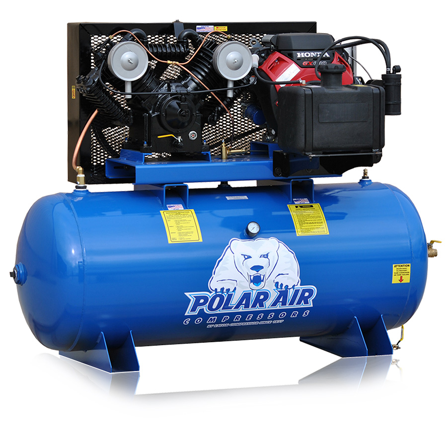 18hp Piston Air Compressor with 120 Gallon tank gas powered