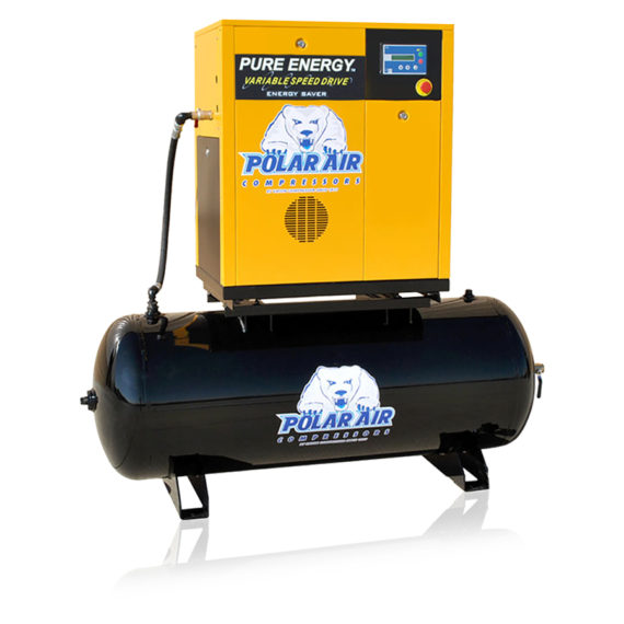 10 Hp Quiet Air Compressor Single Phase 80 Gallon Tank