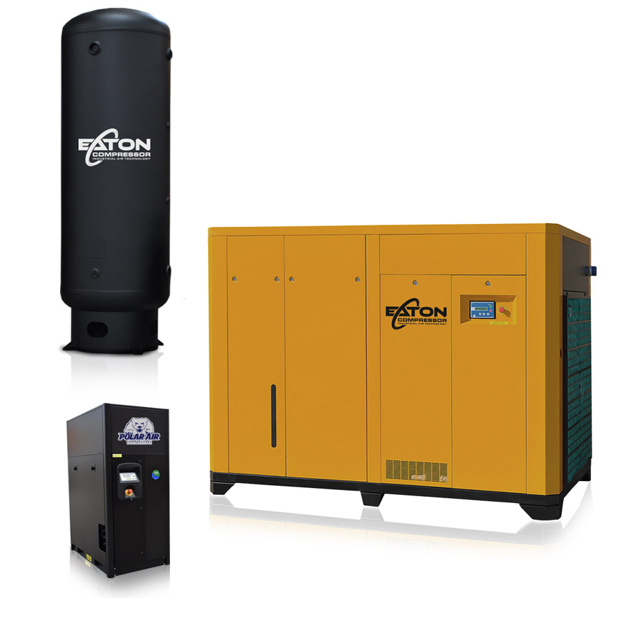 200hp Rotary Screw Air Compressor Package
