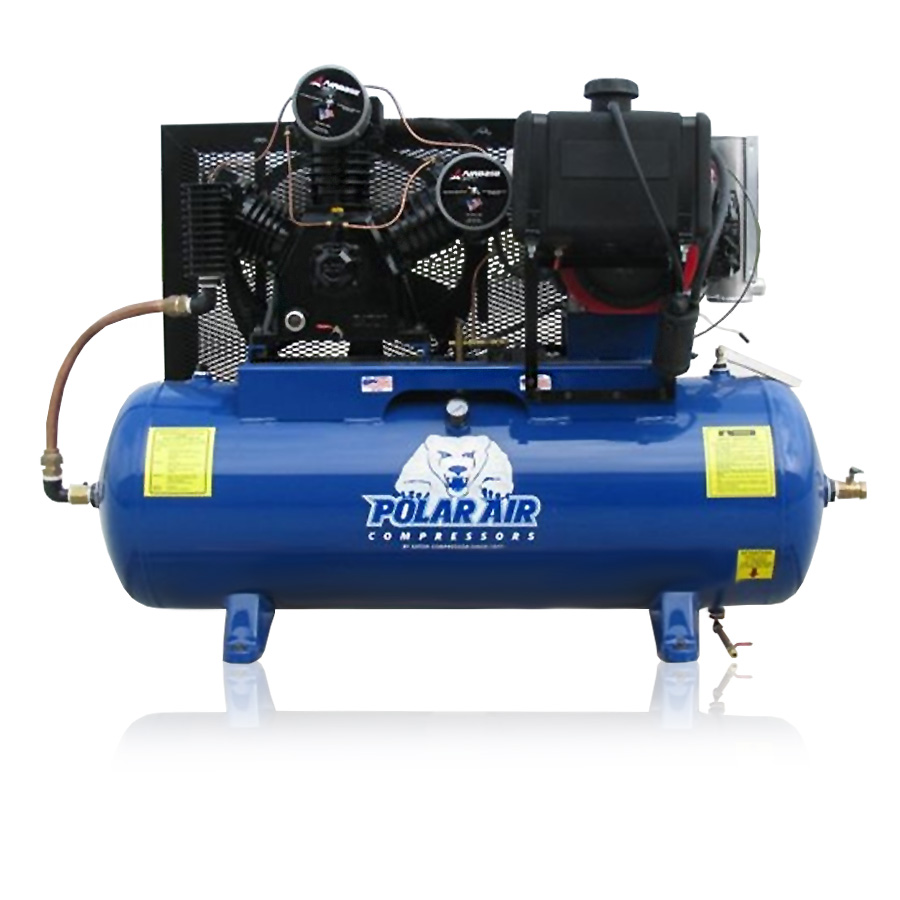 24HP Gas Piston Air Compressor with 80 Gallon tank