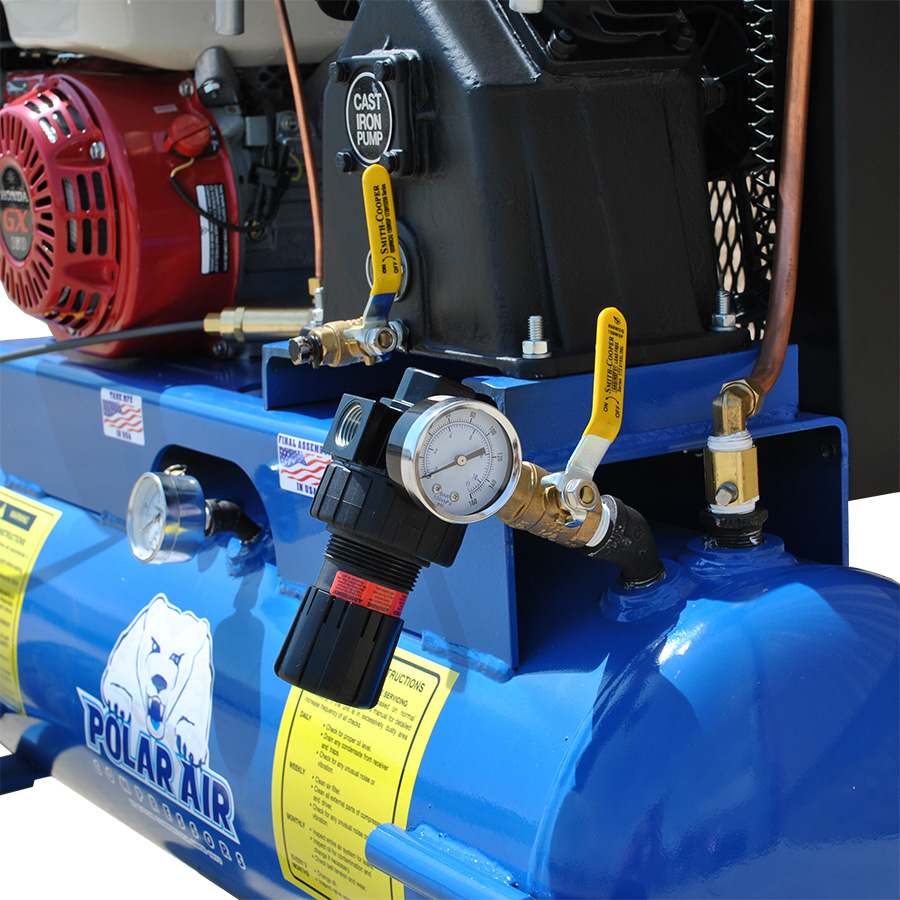 5.5HP Air Compressor with 17 Gallon Tank Gas Powered