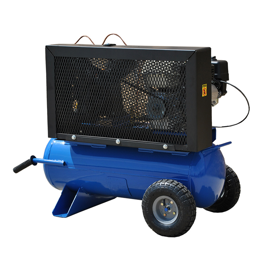 5.5HP Air Compressor with 17 Gallon Tank Gas Powered Rear View