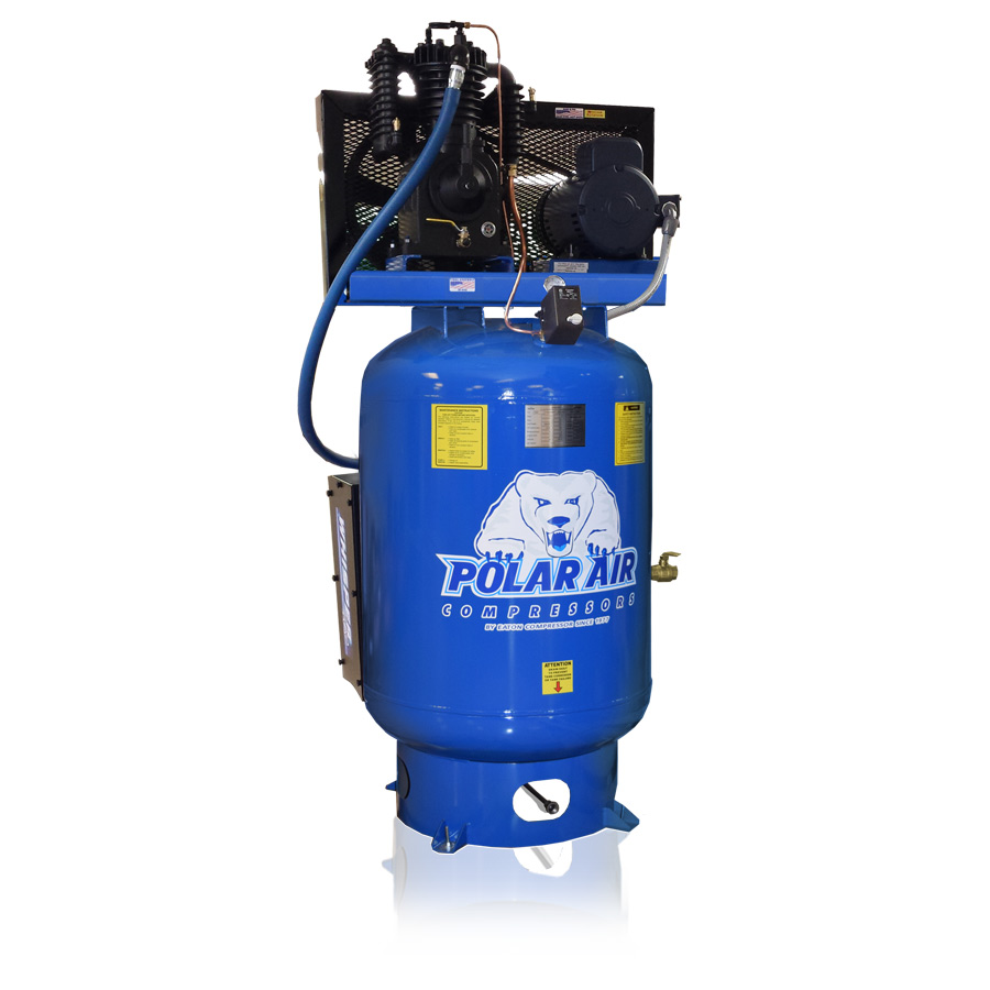 5hp quiet piston air compressor with 120 gallon tank