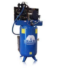 5 hp quiet piston air compressor with 80 gallon tank