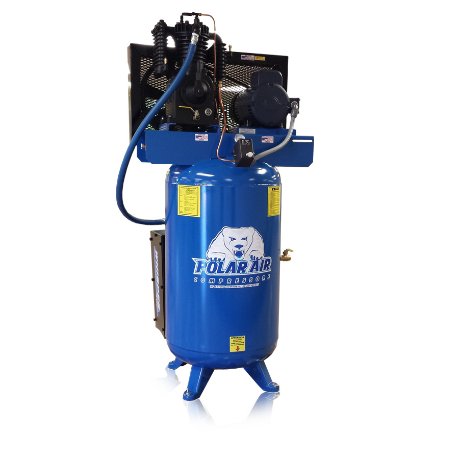 5 hp quiet piston air compressor with 80 gallon tank