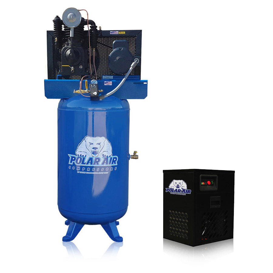 5hp piston air compressor with 30 cfm dryer