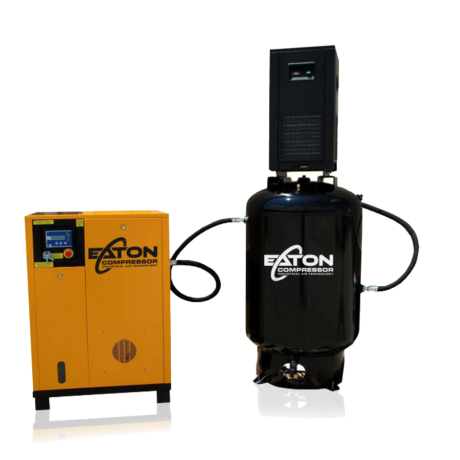 7.5 HP Rotary Screw Air Compressor with Dryer Package