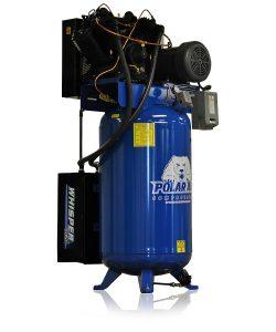 7.5hp quiet piston air compressor with 80 gallon tank