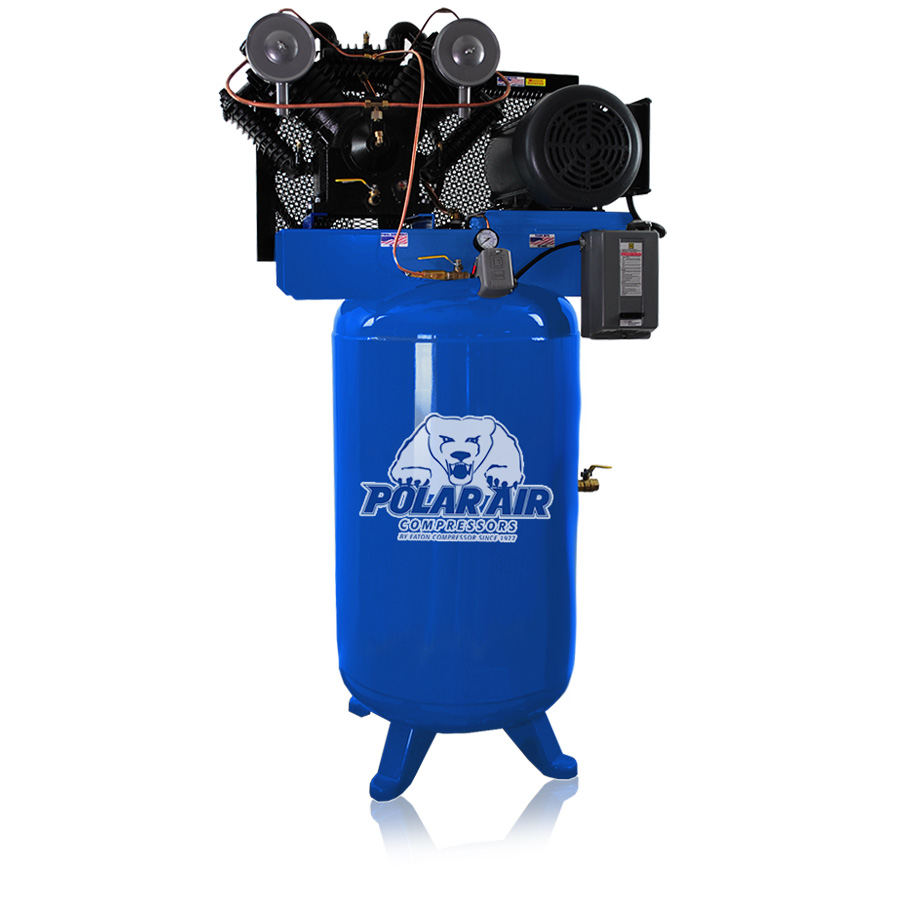 7.5hp air compressor with 80 gallon tank