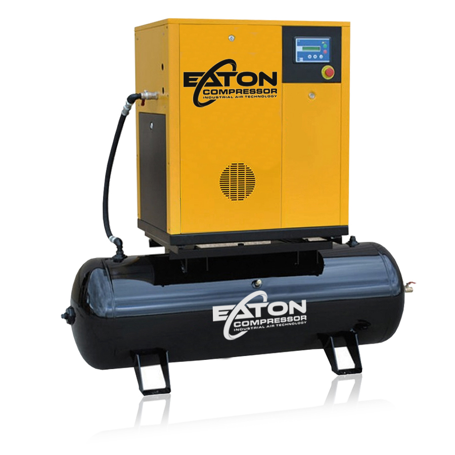 7.5 hp rotary screw  air compressor with 120 gallon tank
