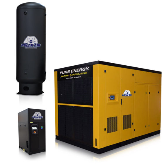 20 Hp Air Compressor With 120 Gallon Tank Rotary Screw
