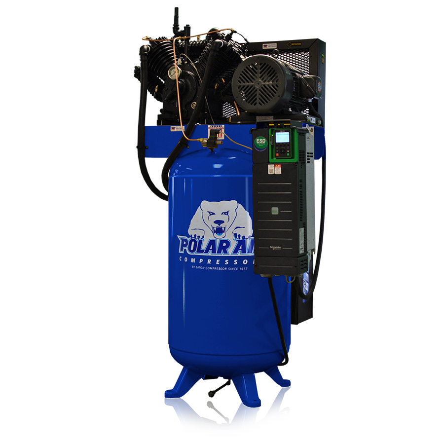 10 HP variable speed piston air compressor