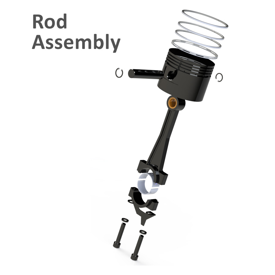 piston air compressor rod assembly
